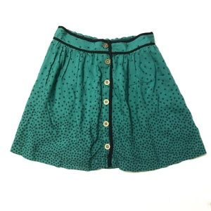 Urban outfitters green button skirt